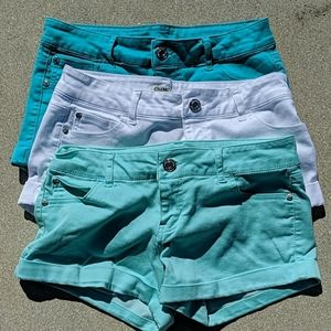 3 pairs celebrity pink shorts